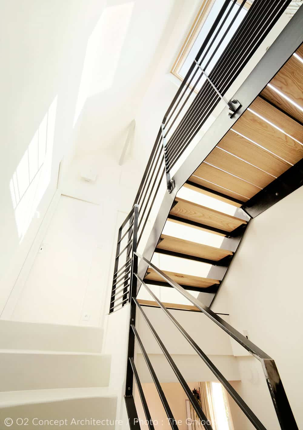 Maison Avec Passerelle Intérieure rénovation - o2 concept architecture